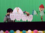 ペープサートによる食育と園児の様子